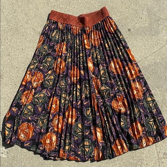 LuLaRoe floral print knee length Skirt XS